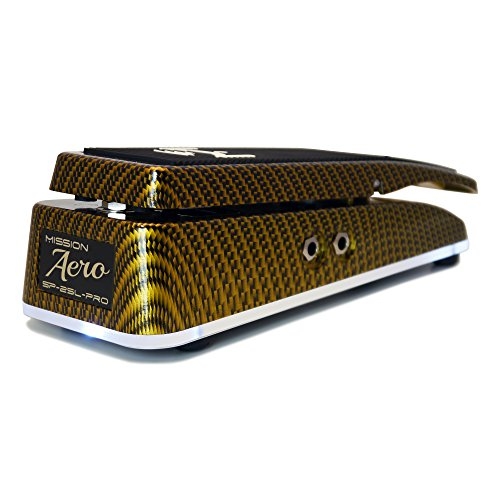 Mission Engineering SP25L Pro Aero Expression Pedal Gold - Expression Lines Visible