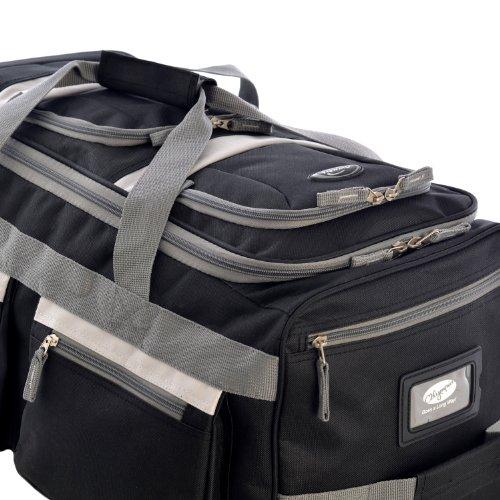 "Olympia Luggage 22"" 8 Pocket Rolling Duffel Bag, Black, One Size"
