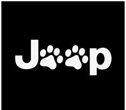 amazon com jeep wrangler cat dog paw print car window vinyl decal rh amazon com jeep wrangler logo size jeep wrangler logo decals