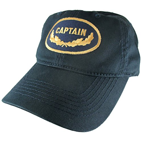 AffinityAddOns Captain Dad Hat, Navy Blue Baseball Cap, Embroidered Patch ()