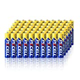 PKCELL 60 Count AAA 1.5V Batteries Carbon Zinc