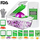 Vegetable Chopper Mandoline Slicer Dicer, CHUGOD Onion Chopper...