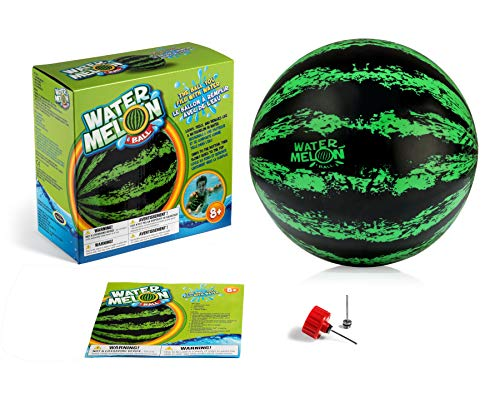 Watermelon Ball – The Ultimate Swimming Pool Game - Toy of The Year Finalist & The Original Ball That Fills with Water for Under Water Passing, Dribbling, Diving & Pool Games for Kids