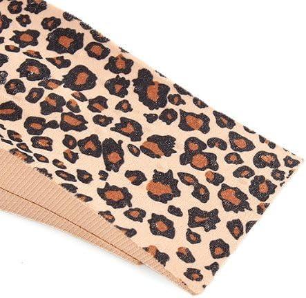 4.5cm Gleader 4 x Semelle Talonnette Grandissante en PVC Leopard pour Femme Homme