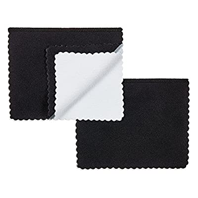 The Bling Factory Deluxe Microfiber Jewelry Cleaning & Polishing Cloth w/Dual Layers, 4 inch x 6 inch - 2 Pack: Jewelry