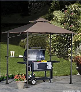 ABCCANOPY Grill Shelter Replacement Canopy roof for Model L-GZ238PST-11 (brown) & Amazon.com : GOJOOASIS Barbecue Canopy Tent Outdoor 2-Tier BBQ ...