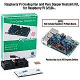 Raspberry Pi Cooling Fan and Pure Copper Heatsink Kit, for Raspberry Pi 3/2/B+.