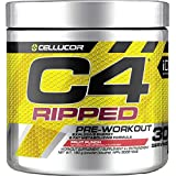 Cellucor C4 Ripped Pre Workout Powder, Energy & Fat Metabolism Supplement, Fruit Punch, 30 Servings, 180g