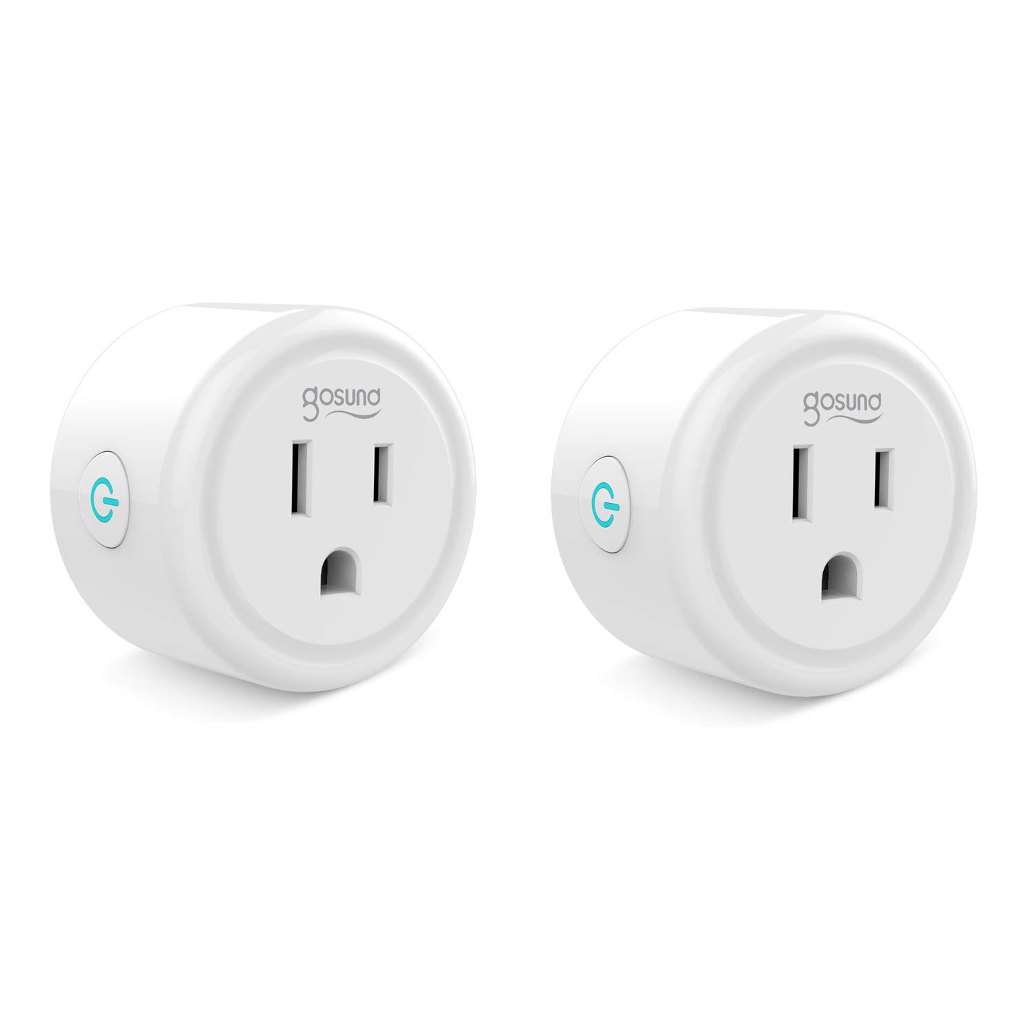 Mini Smart Plug Outlet Work With Amazon Alexa Google Home IFTTT, No Hub Required, ETL and FCC Listed Wifi enabled Remote Control Smart Socket by Gosund (2 Pack)