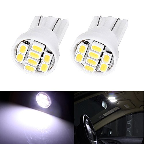 CCIYU 2 Pack T10 W5W Wedge 168 194 LED Bulb For 1997-2004 Buick Regal Dome Light Map Light Trunk/Cargo Area Step/Courtesy/Door Glove Box License Plate Light - Buick Glove Box
