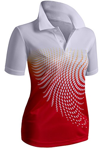 CLOVERY Sweat Evaporate Quickly Drying Short Sleeve POLO Shirts RED US M / Tag M (Shirt Golf Polo Short Sleeve)