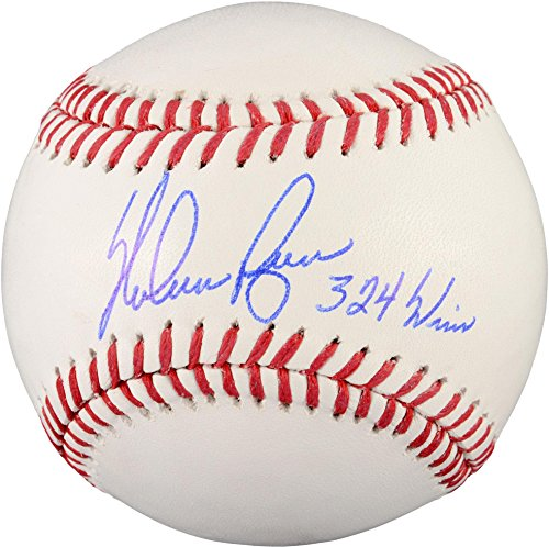 - Nolan Ryan Texas Rangers Autographed Baseball with 324 Wins Inscription - Fanatics Authentic Certified