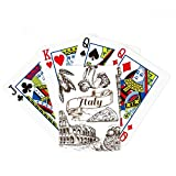 Italy Famous Landscape Travel Places Pattern Poker Playing Cards Tabletop Game Gift