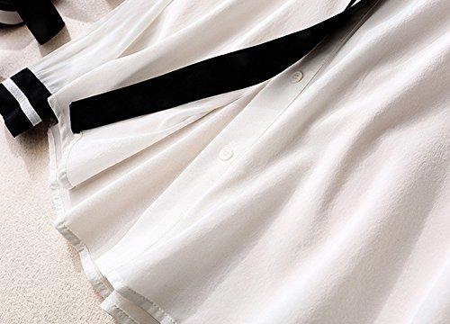 Prendono Cento Holiday Regali Camicia Pezzi Di Donne Mulberry Casual white Le m Top Seta L amp;kk Moda Amici La Alla TY1B14qw