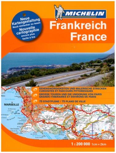 Michelin Frankreich Strassen- und Reiseatlas 1 : 200 000