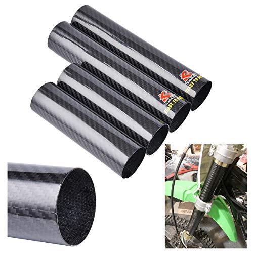 PRO CAKEN Carbon Fiber Front Fork Tube Set Slider Cover Wrap Guard for XR250 CRF250L/M WR250R/X KLX250 DR-Z400SM Dirt Pit Bike Motocross