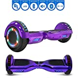 NHT 6.5' Chrome Edition Hoverboard Self Balancing Scooter w/LED Wheels and Lights (Chrome Purple)