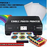 Edible Photo Cake Printer Bundle: Latest Canon Wireless Image Printer + Edible Ink