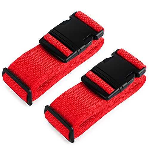 - HOLLY TRIP Pack of 2 Luggage Straps, Adjustable Luggage Strap Belts Travel Bag Accessories For 20