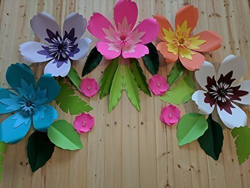 Amazoncom Hibiscus Paper Flowers For Backdrops Includes 9 Paper