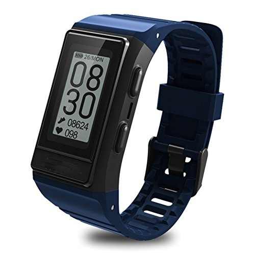 Hmhope Smart Bracelet Fitness Tracker GPS Pedometer Heart Rate Monitor Multi-Sport Mode Waterproof Outdoor Display Screen for Android and IOS,Blue by pedometer