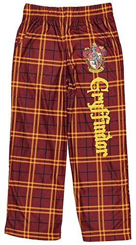 Intimo Harry Potter Big Boys Houses Plaid Pajama Lounge Pants (Gryffindor, L-10/12) (Harry Potter Pants)