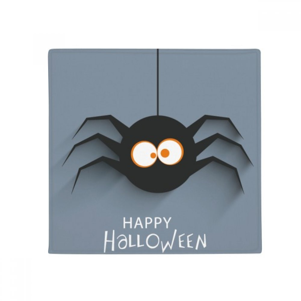 DIYthinker Halloween Insect Spider Cobweb Illustration Anti-Slip Floor Pet Mat Square Home Kitchen Door 80Cm Gift