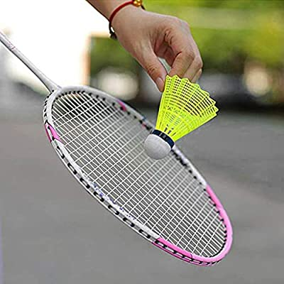 Wenini Badminton Shuttlecocks 12-Pack Nylon Shuttlecocks Highly-Visible Brightly-Colored Plastic Birdies Balls High Speed Badminton Balls with Great Durability Stability for Indoor Outdoor Sports : Sports & Outdoors