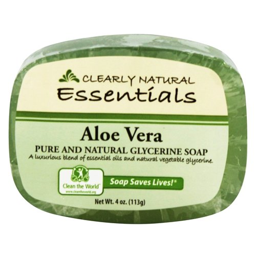 Clearly Natural Essentials Aloe Vera Pure and natural glycerine soap 4 (Clearly Natural Bar Soap)