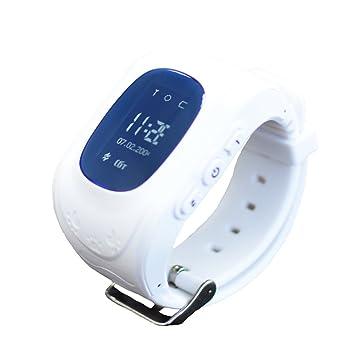 Reloj para Niños Q50, 9Tong Reloj Infantil Pulsera Inteligente Localizador Pantalla OLED con Smartphones (GPS, LBS, SOS Llamadas, Tarjeta SIM, para Android ...