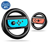 Nintendo Switch Steering Wheel Mario Kart Steering Wheel Style Handle With Gift Box Package Fit In Joy-con controllers Black set of 2 Review