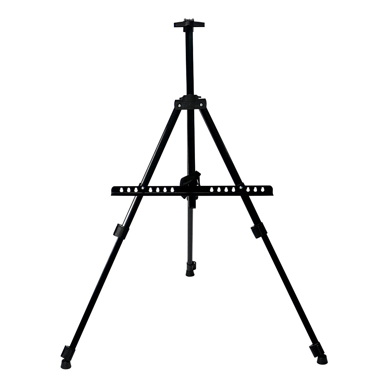 SaveOnMany 63'H Adjustable Portable Art Easel Metal Telescopic Tripod Display Stand for Painting Drawing Studio Field Floor & Table Top, with Carrying Case