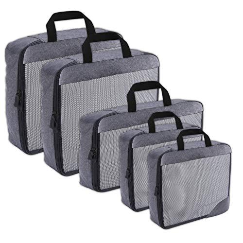 Compression Packing Cubes Travel Organizer (5) Set