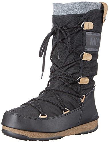 Tecnica Women's Monaco Moon Boot, Black, 38 EU/7 M US (Snow Moon Boots Winter)