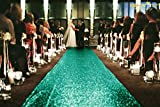 Sequin Aisles Floor Runner-Green-4FTX40FT Wedding Aisle Runner, Glitter Carpert Runner, Wedding Ceremony Decor (Peach)