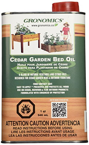 Gronomics GBO1Q Cedar Garden Bed Oil, 1-Quart