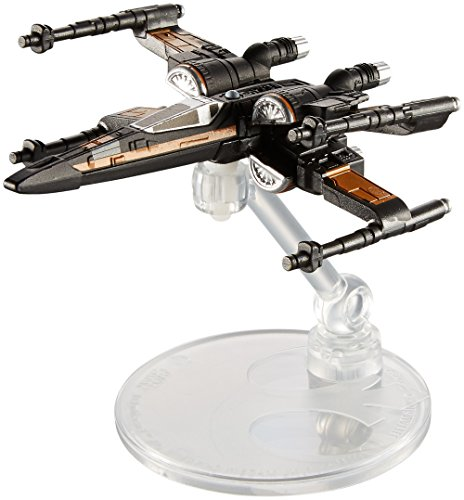 [Hot Wheels Star Wars Rogue One Starship Vehicle, Poe Dameron's X-Wing Fighter (Open Wing)] (X Wing Star Wars)