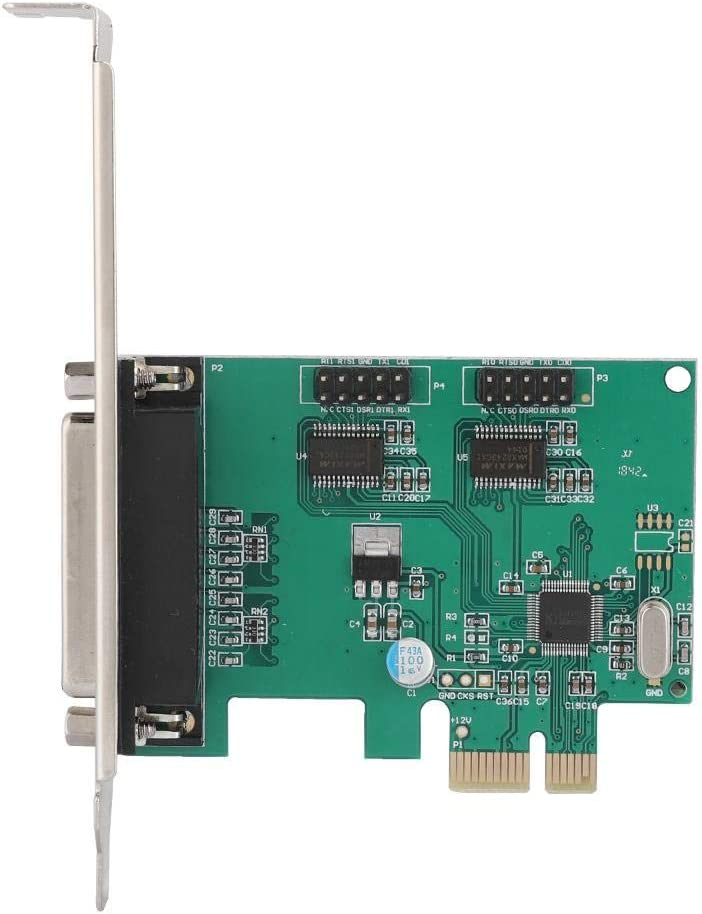 WCH382 Master Chip / Desktop PCI Riser Card with Low Bracket PCI-E 2 Port Serial Expansion Card PCI Two 9-pin RS-232 DB9 to DB25 LPT Parallel Port Adapter Card
