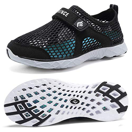CIOR Boys & Girls Water Shoes Kids Swim Shoes Amphibious Aqua Shoes Sport Sneakers Light Weight Shoes Athletic Shoes for Swimming,Diving,WalkingU118SSXT001C-Black-28