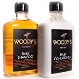 Woody's Quality Grooming for Men, Daily Shampoo & Conditioner