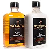 Bamboo Green Tea Cleansing Conditioner - Woody's Quality Grooming for Men, Daily Shampoo & Conditioner (12 Ounce)