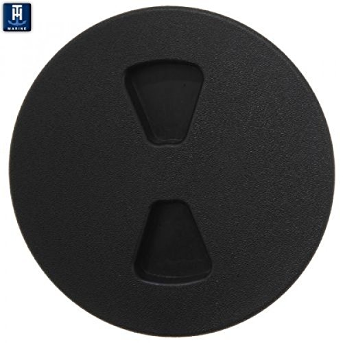 T-H Marine DPS-6-1-DP Sure-Seal Screw Out Deck Plate - Black, 6''