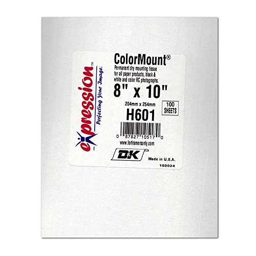 Tissue Mount Dry (D&K Colormount Dry Mount Tissue 8X10 100Pk)