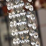 39FT Crystal Garland, KINJOEK Crystal Clear Glass