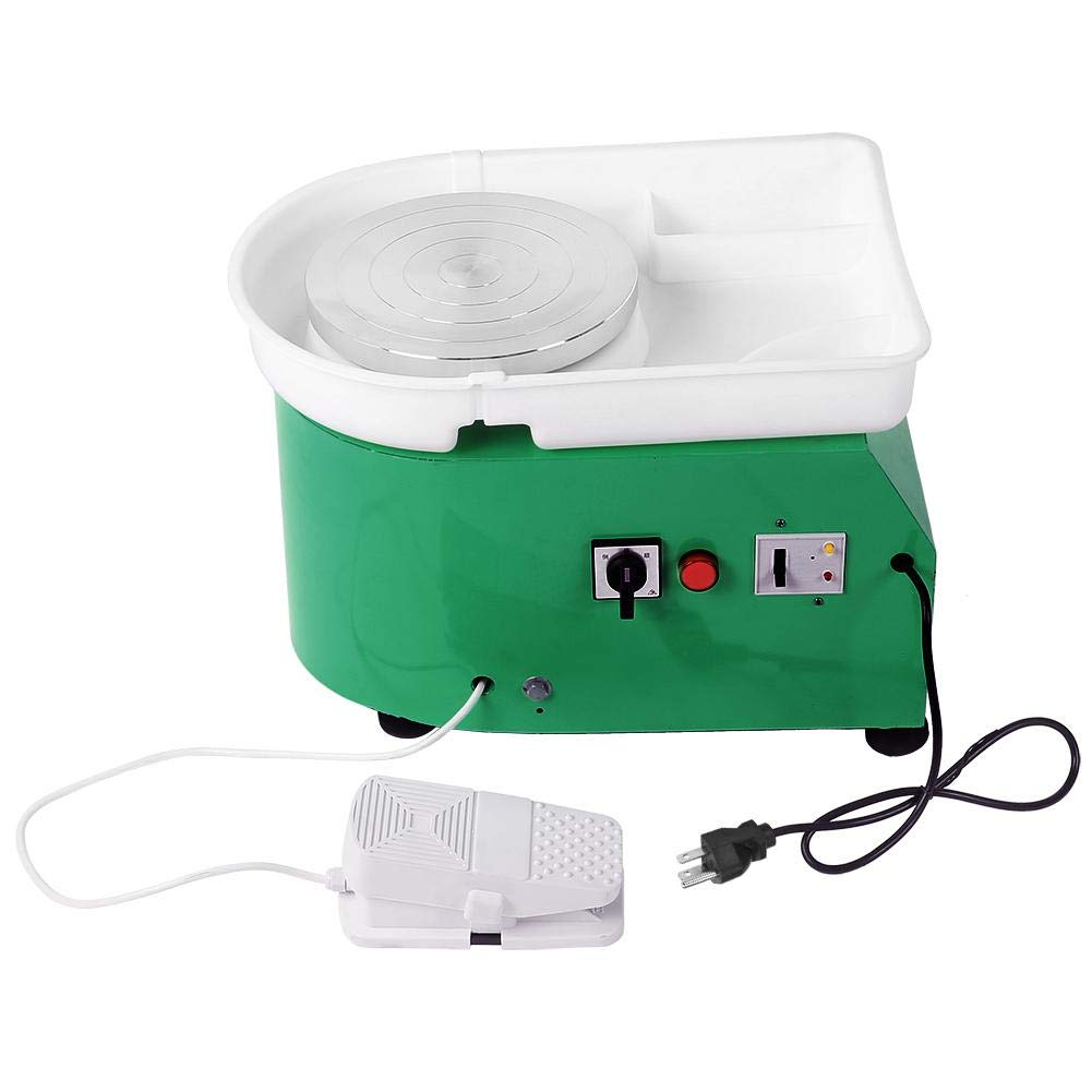 Professional Pottery Wheel Machine 250W Electric Pottery Wheel Ceramic Forming Machine for Clay DIY Ceramic Work Clay Art Craft (Green) by Wal front
