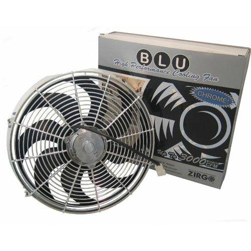Zirgo 10215 Chrome 14'' 2122 fCFM High Performance Blu Cooling Fan by Zirgo