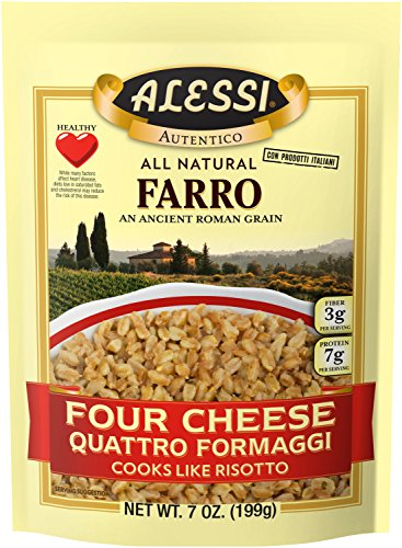 Alessi Four Cheese Farro, 7 Ounce (6 Pack)