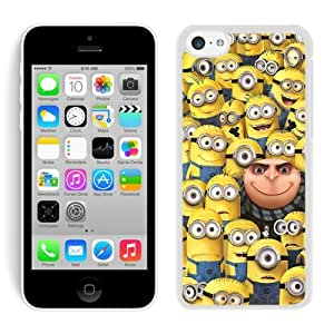 Unique And Durable Custom Designed Case For iPhone 5C With Despicable Me 12 White Phone Case