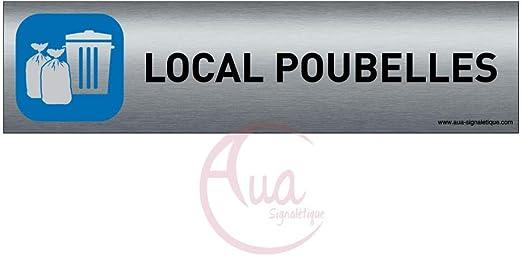 200x50 mm Double Face adh/ésif au dos Plaque de porte Aluminium bross/é imprim/é AluSign Livraison AUA SIGNALETIQUE