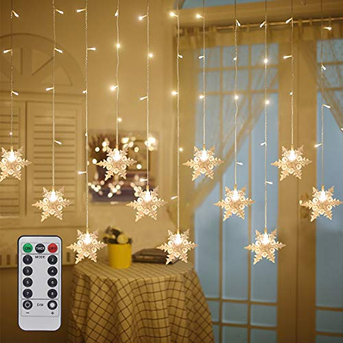 Led Snowflake Icicle String Lights in US - 2